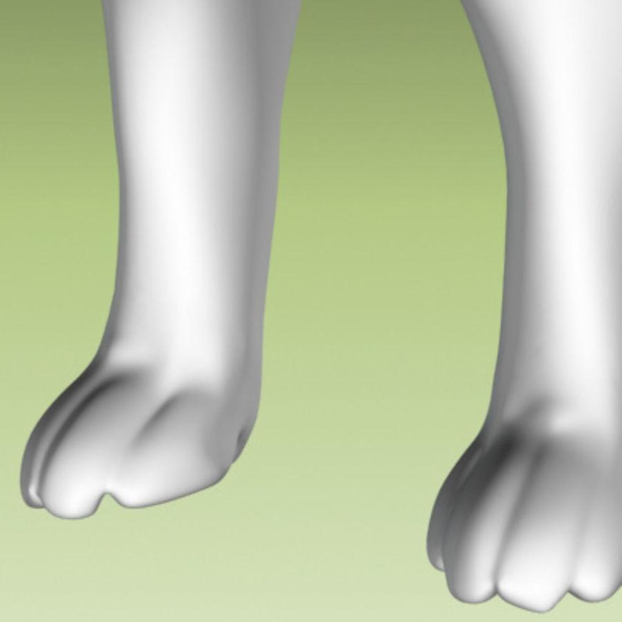 köpek yavrusu heykeli royalty-free 3d model - Preview no. 8