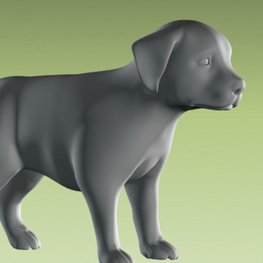 köpek yavrusu heykeli royalty-free 3d model - Preview no. 5