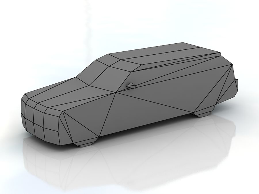 chrysler 300c touring lowpoly royalty-free 3d model - Preview no. 3