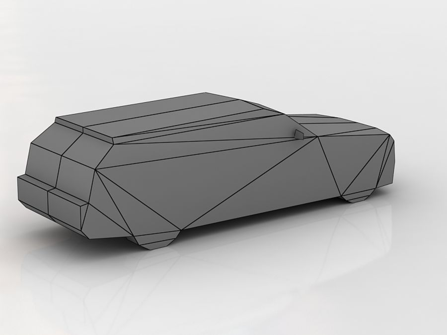 chrysler 300c touring lowpoly royalty-free 3d model - Preview no. 5