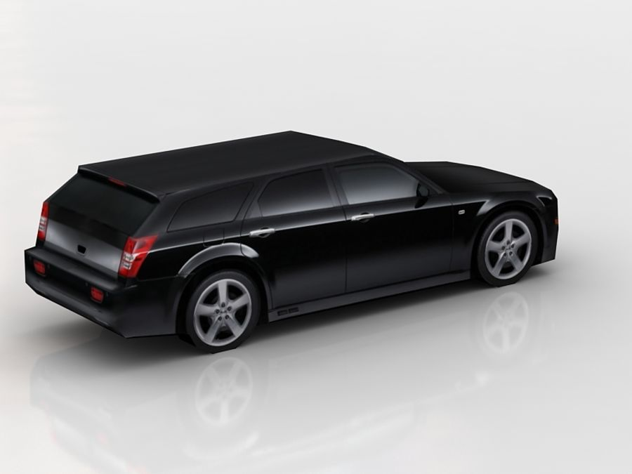 chrysler 300c touring lowpoly royalty-free 3d model - Preview no. 4