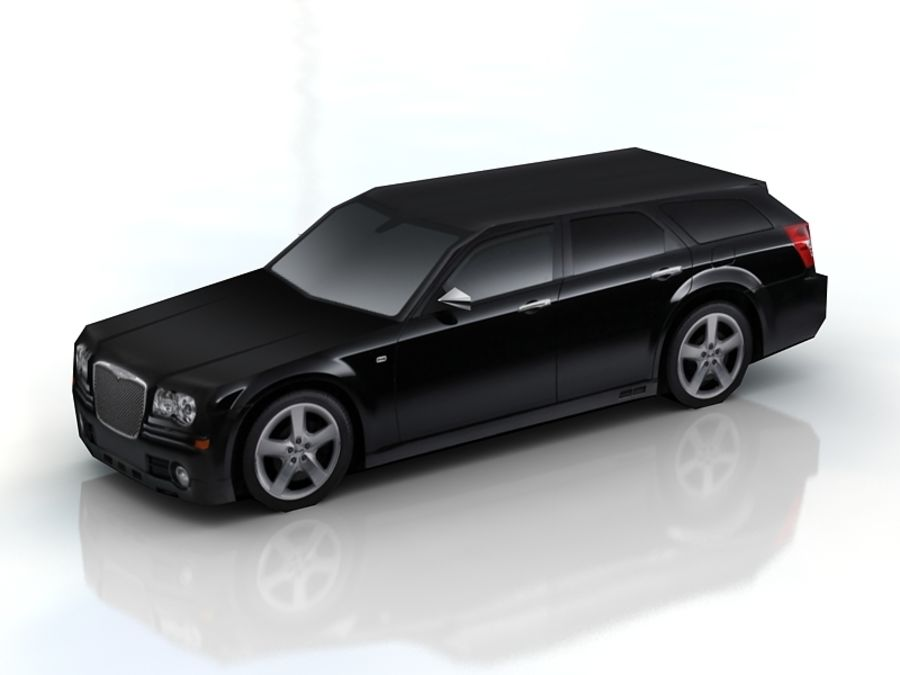 chrysler 300c touring lowpoly royalty-free 3d model - Preview no. 2