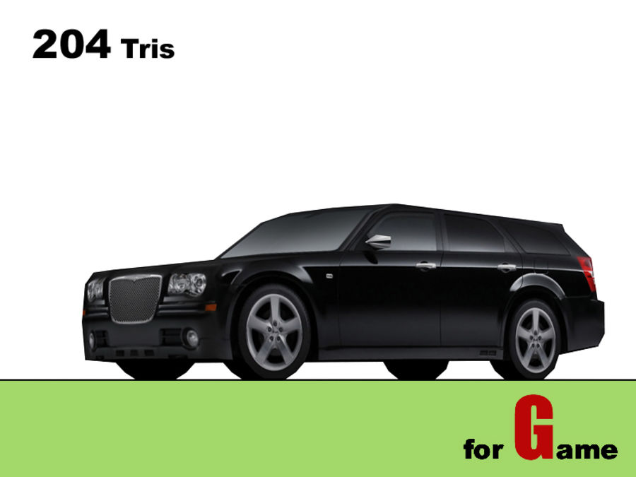 chrysler 300c touring lowpoly royalty-free 3d model - Preview no. 1