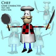 шеф-повар 3d model
