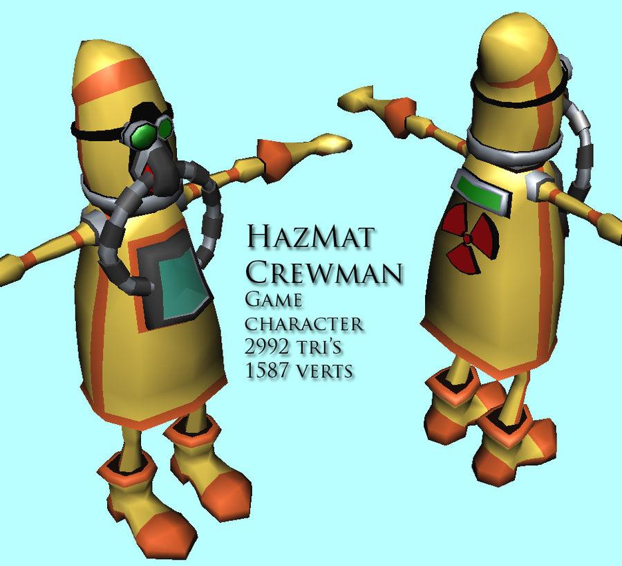 HazMat Crewman royalty-free 3d model - Preview no. 1