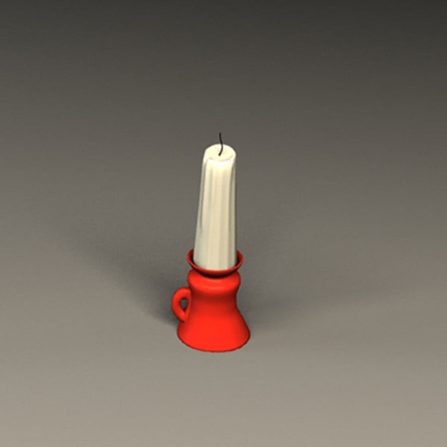 old candle royalty-free 3d model - Preview no. 3