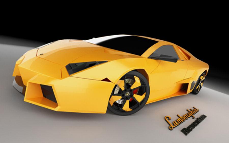 Lamborghini Reventon royalty-free 3d model - Preview no. 11
