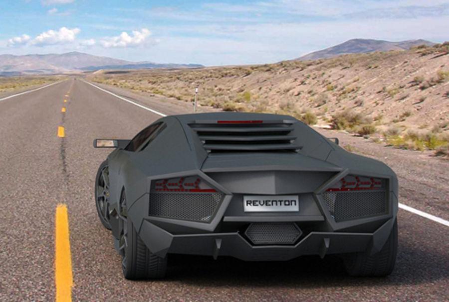 Lamborghini Reventon royalty-free 3d model - Preview no. 8