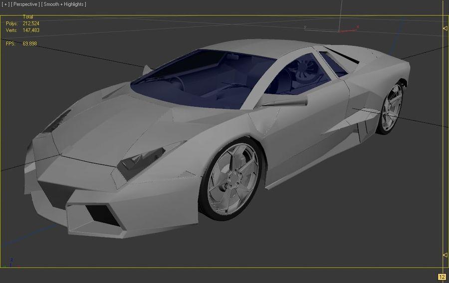 Lamborghini Reventon royalty-free 3d model - Preview no. 12