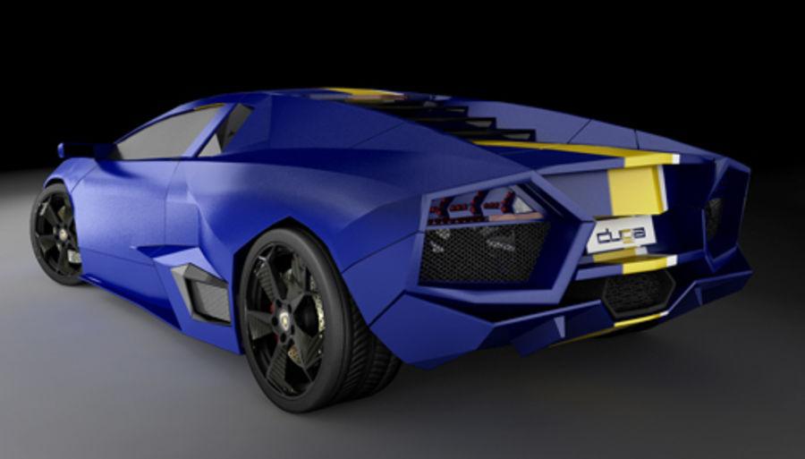 Lamborghini Reventon royalty-free 3d model - Preview no. 7