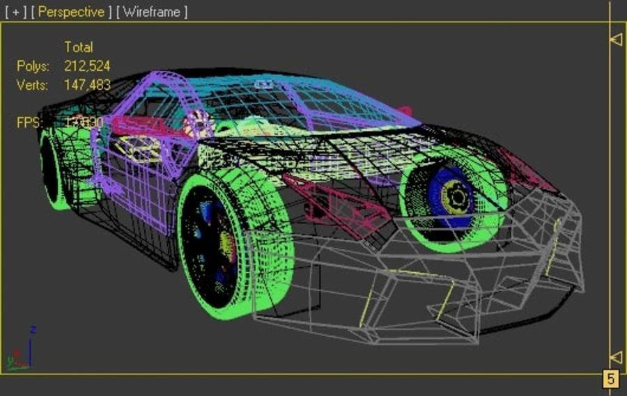 Lamborghini Reventon royalty-free 3d model - Preview no. 5