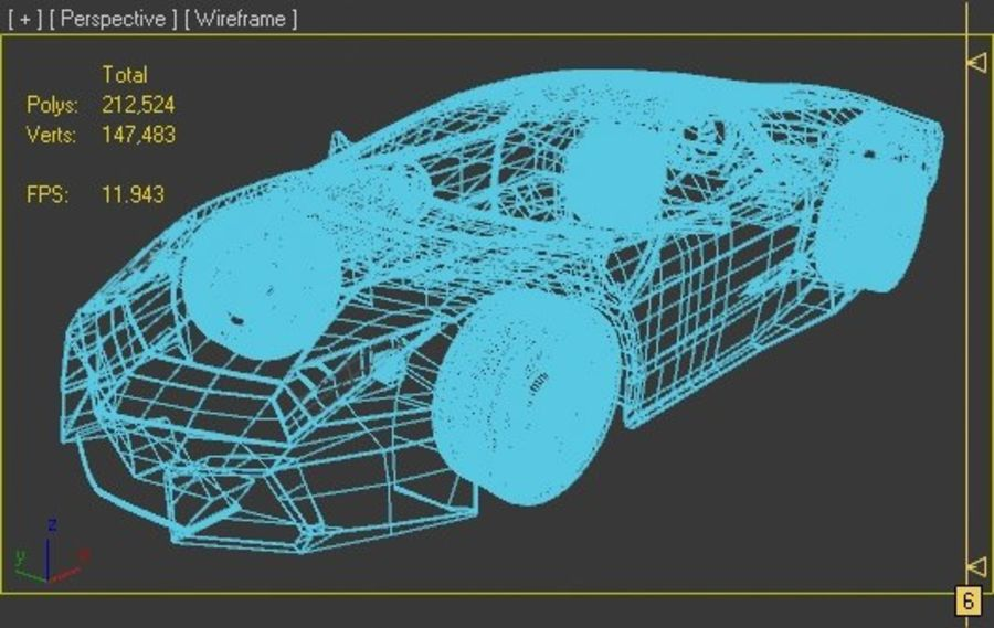 Lamborghini Reventon royalty-free 3d model - Preview no. 6