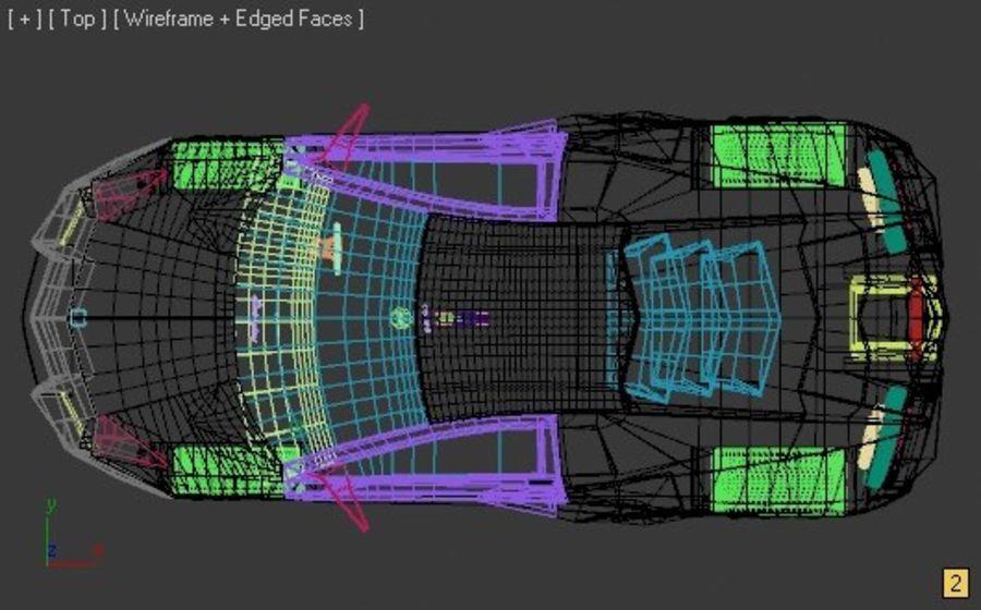 Lamborghini Reventon royalty-free 3d model - Preview no. 2