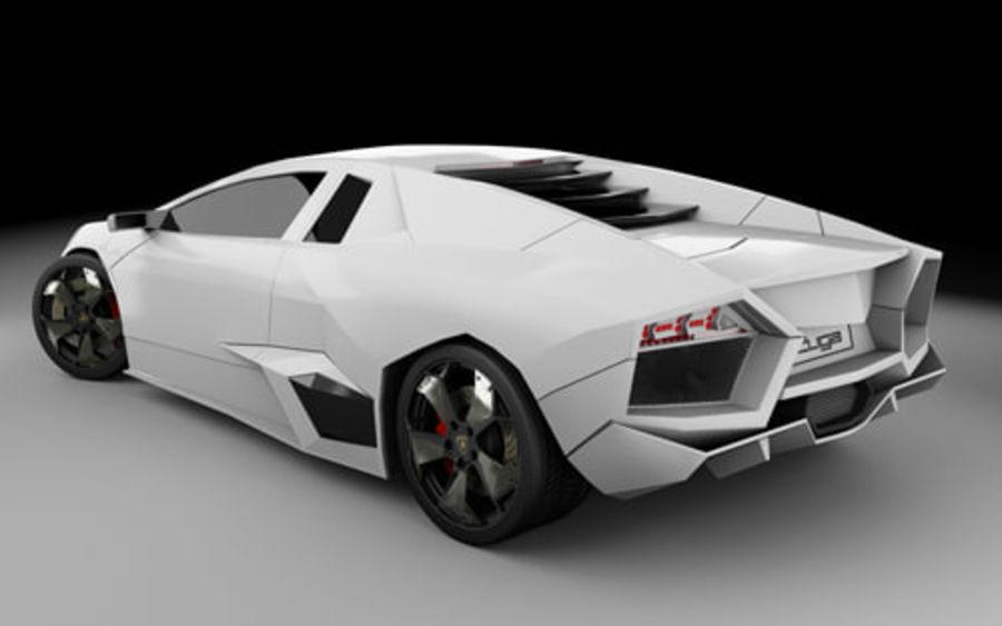 Lamborghini Reventon royalty-free 3d model - Preview no. 9