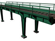 Train bridge 3d model