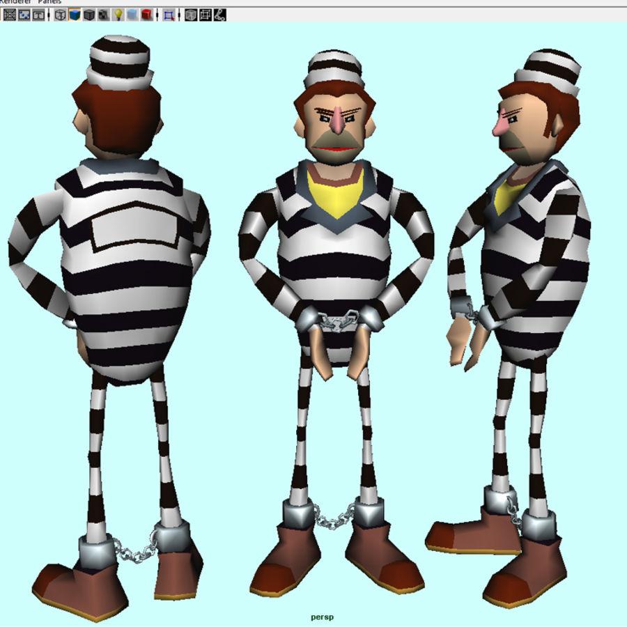 prigioniero royalty-free 3d model - Preview no. 2