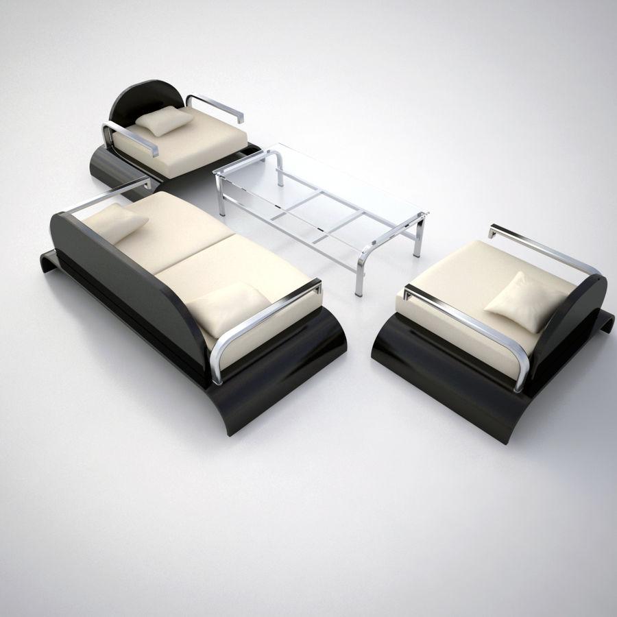 Design möbel uppsättning 2 royalty-free 3d model - Preview no. 3