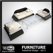 Design möbel uppsättning 2 3d model