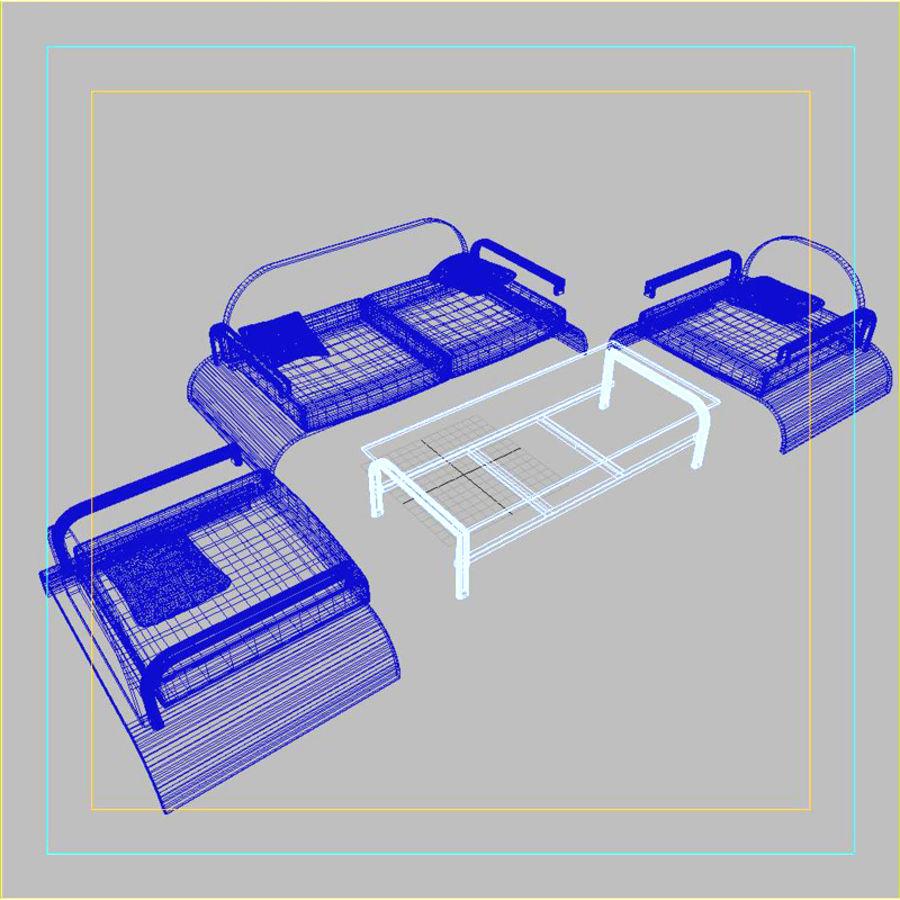 Design möbel uppsättning 2 royalty-free 3d model - Preview no. 8
