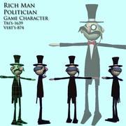 rich politician man 3d model