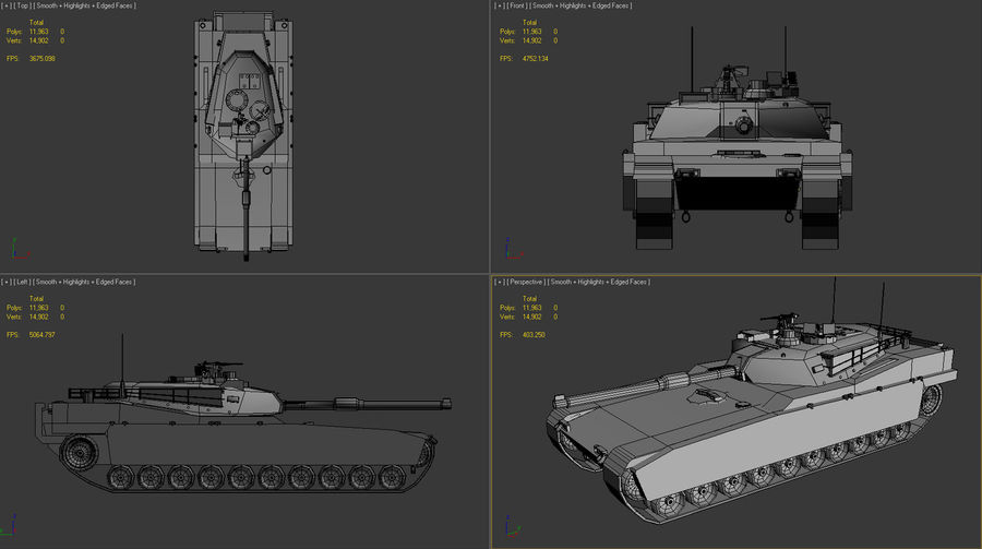 PRV Tank royalty-free 3d model - Preview no. 4