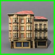 Low Poly Building 04 3d model