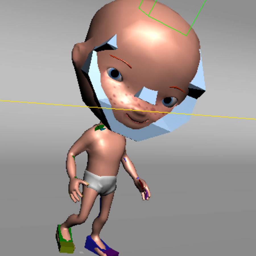 Cartoon baby royalty-free 3d model - Preview no. 13