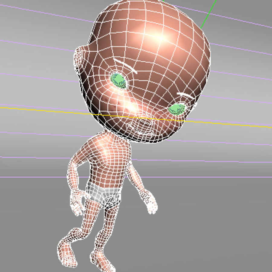 Cartoon baby royalty-free 3d model - Preview no. 12
