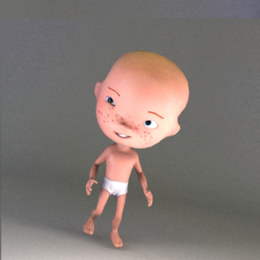 Cartoon baby royalty-free 3d model - Preview no. 8