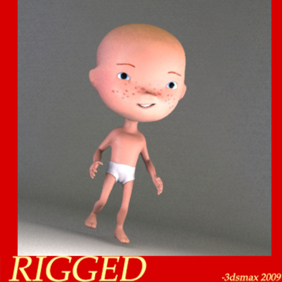 Cartoon baby royalty-free 3d model - Preview no. 1