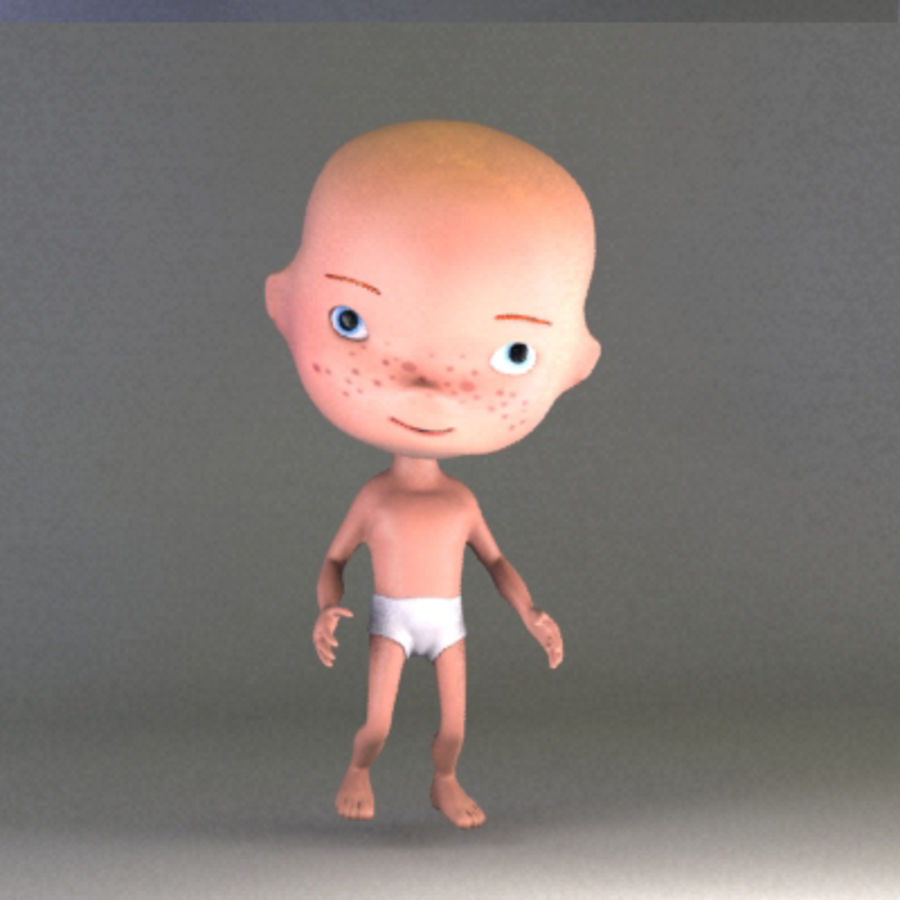 Cartoon baby royalty-free 3d model - Preview no. 6