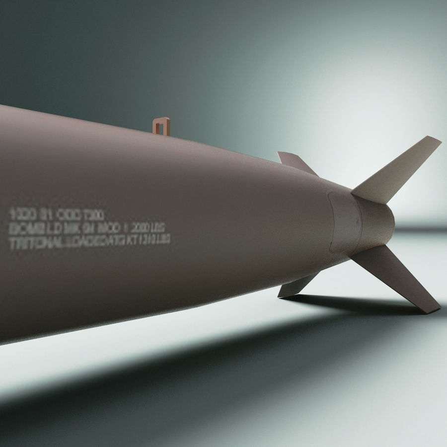 Aircraft Bomb Mk-84 royalty-free 3d model - Preview no. 6