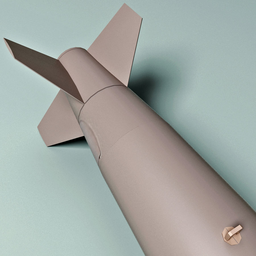 Aircraft Bomb Mk-84 royalty-free 3d model - Preview no. 4