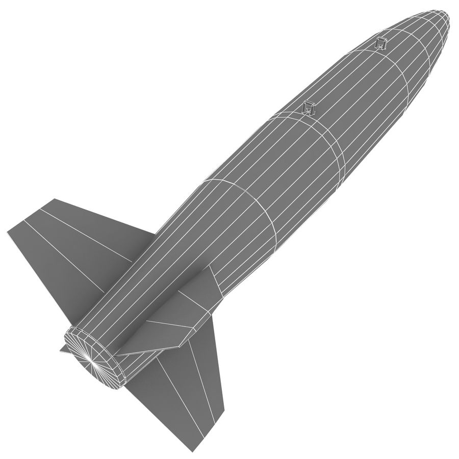 Aircraft Bomb Mk-84 royalty-free 3d model - Preview no. 10