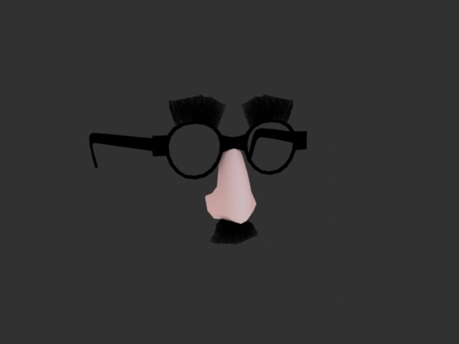 Groucho Mask royalty-free 3d model - Preview no. 1