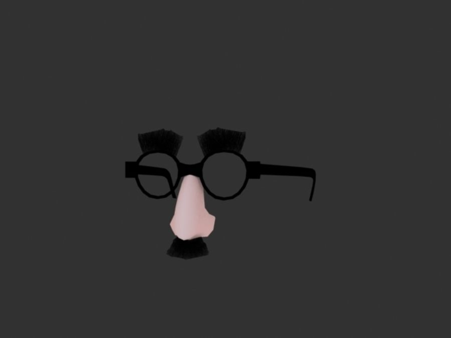 Groucho Mask royalty-free 3d model - Preview no. 2