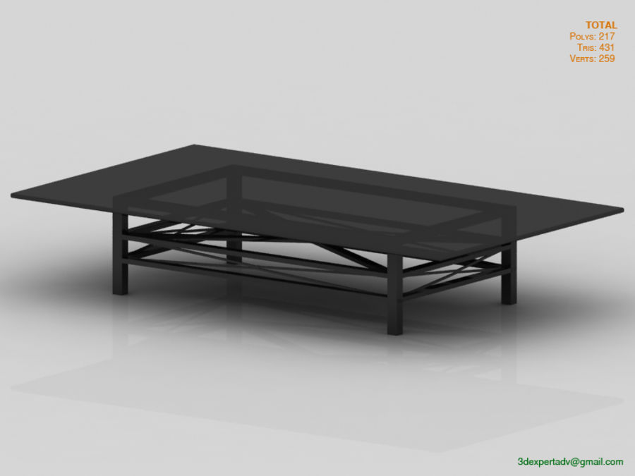 Coffee Table royalty-free 3d model - Preview no. 3