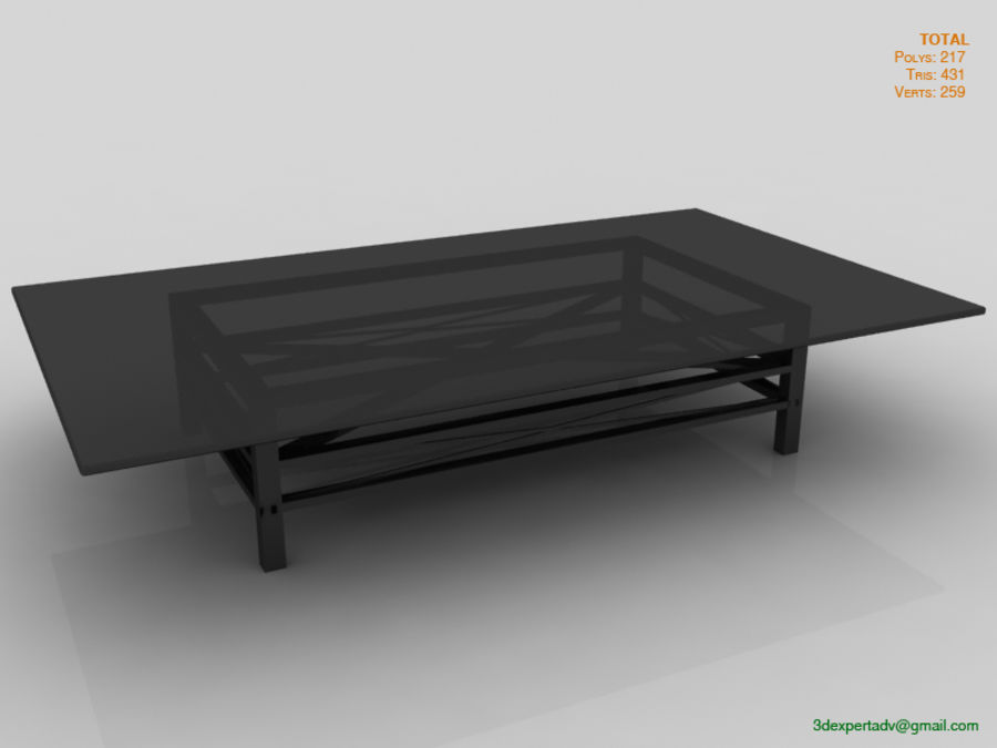 Coffee Table royalty-free 3d model - Preview no. 1