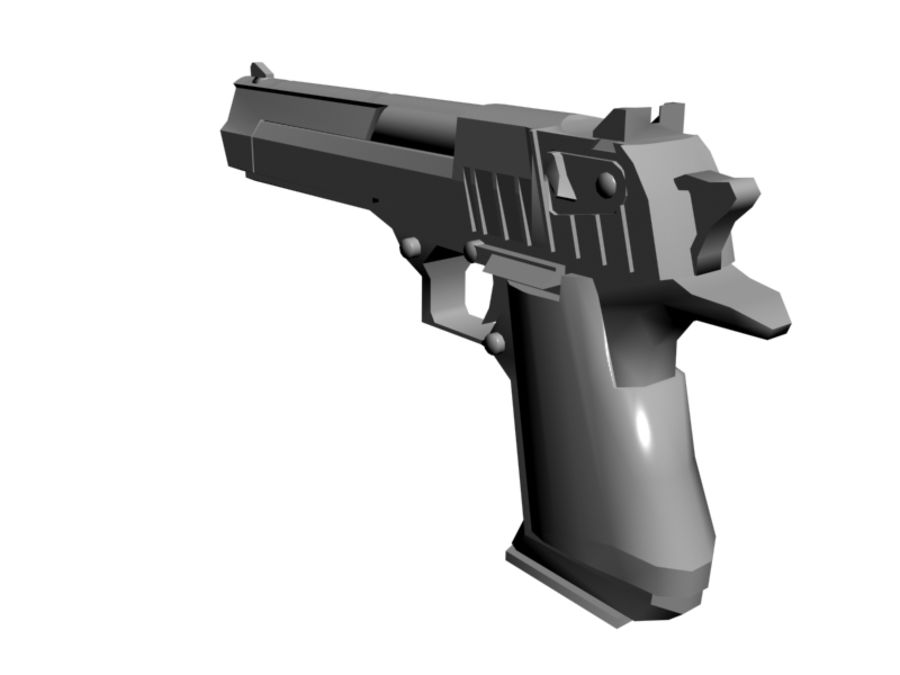 Desert Eagle .50 royalty-free 3d model - Preview no. 3