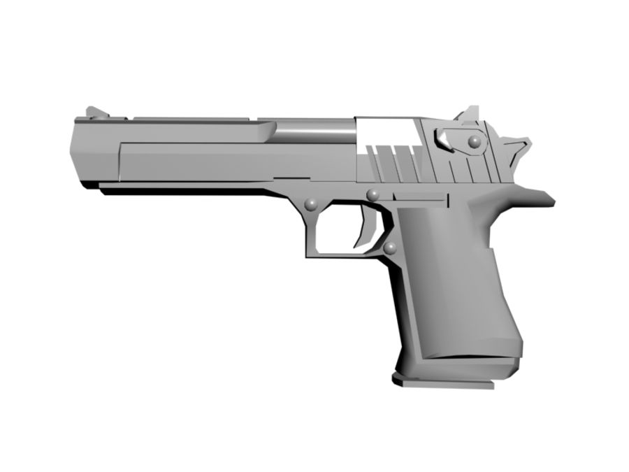 Desert Eagle .50 royalty-free 3d model - Preview no. 2
