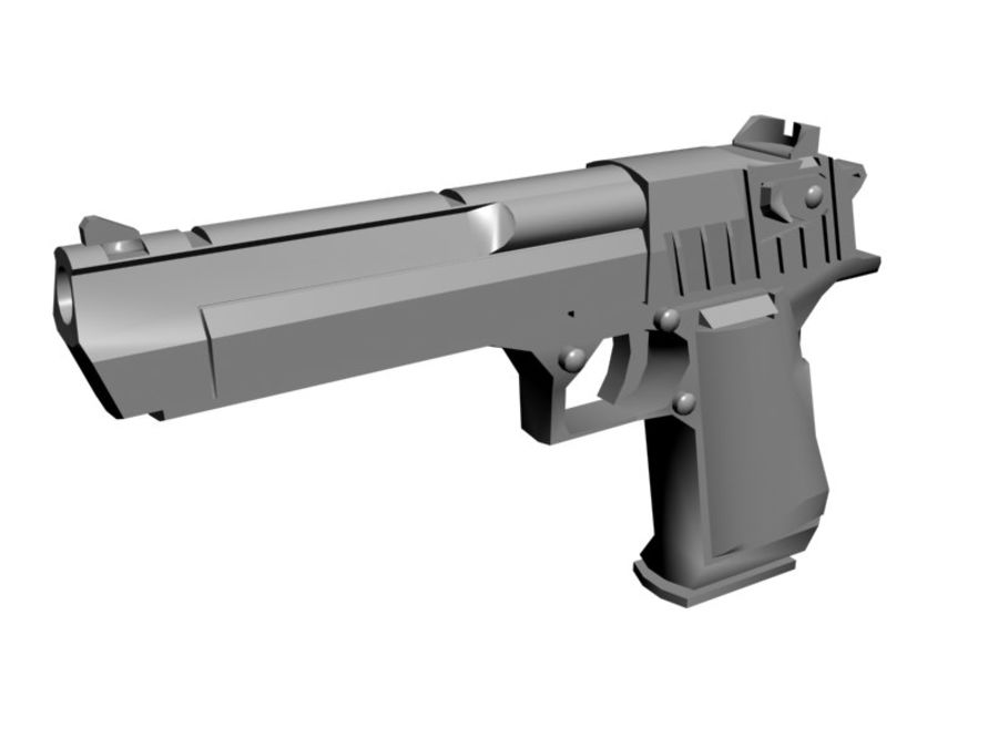 Desert Eagle .50 royalty-free 3d model - Preview no. 1