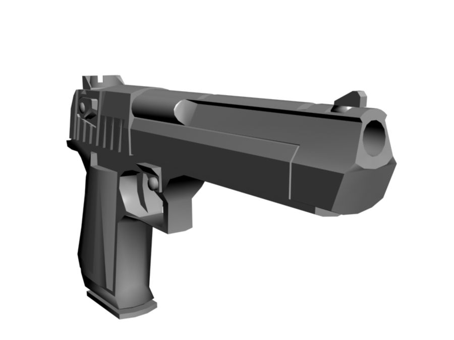 Desert Eagle .50 royalty-free 3d model - Preview no. 6