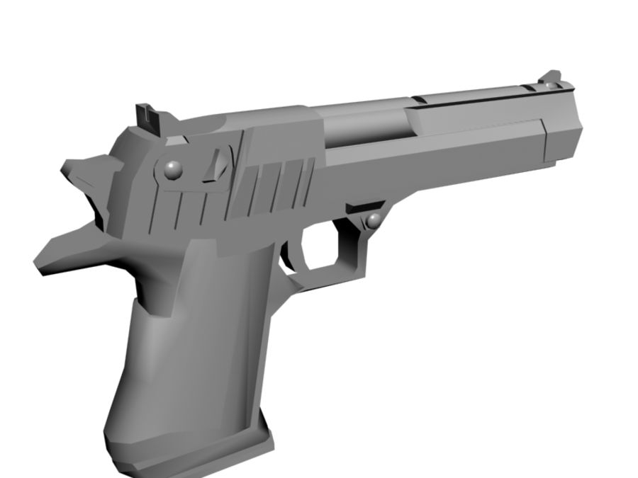 Desert Eagle .50 royalty-free 3d model - Preview no. 5