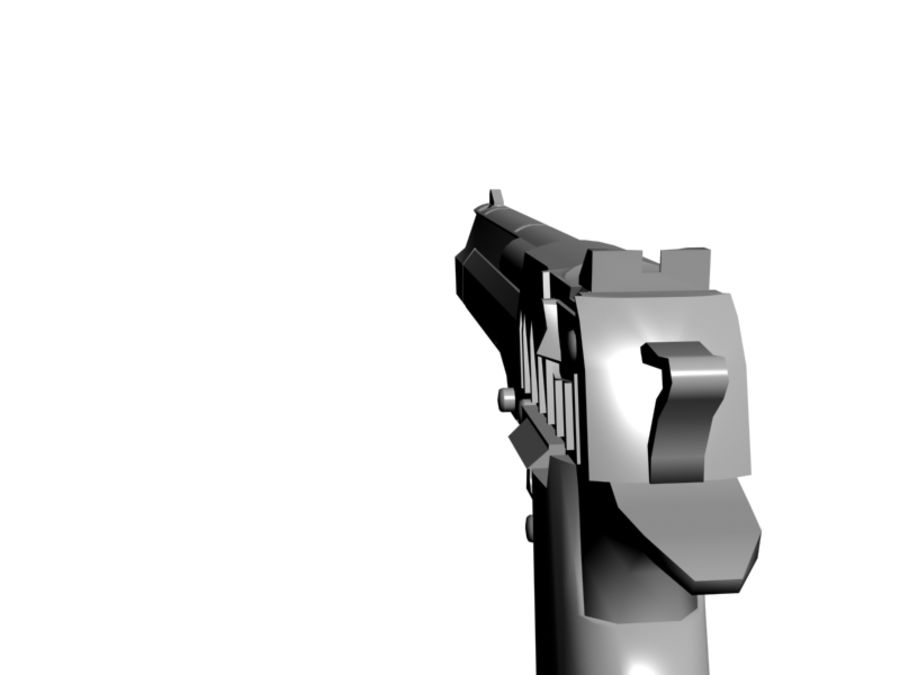 Desert Eagle .50 royalty-free 3d model - Preview no. 4