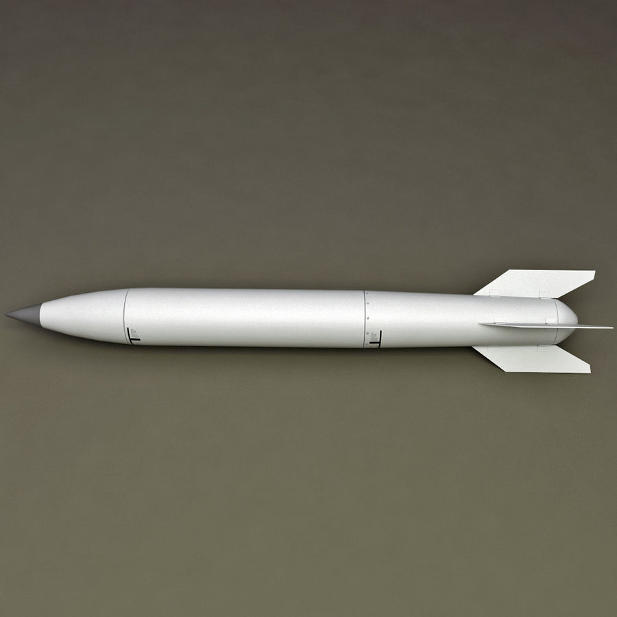 Aircraft Bomb B-61 royalty-free 3d model - Preview no. 2