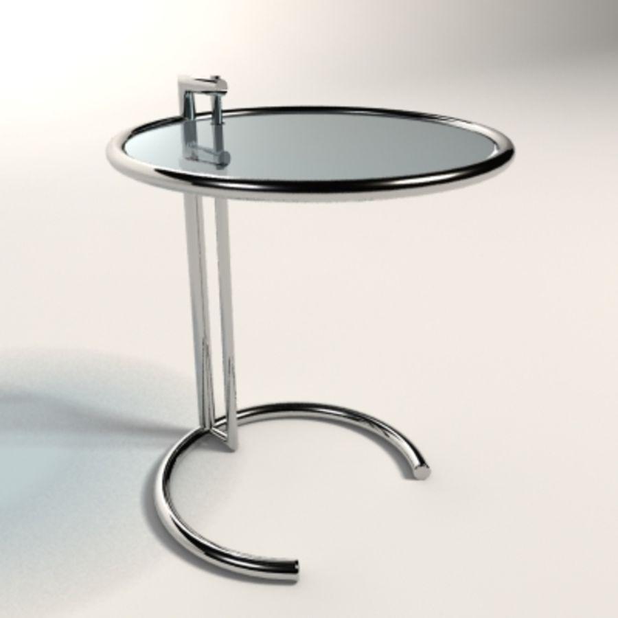 Eileen gray adjustable table 3d model 25 max xsi obj for Table 3d model