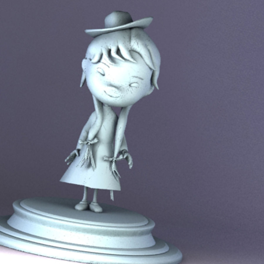 jane statue royalty-free 3d model - Preview no. 7