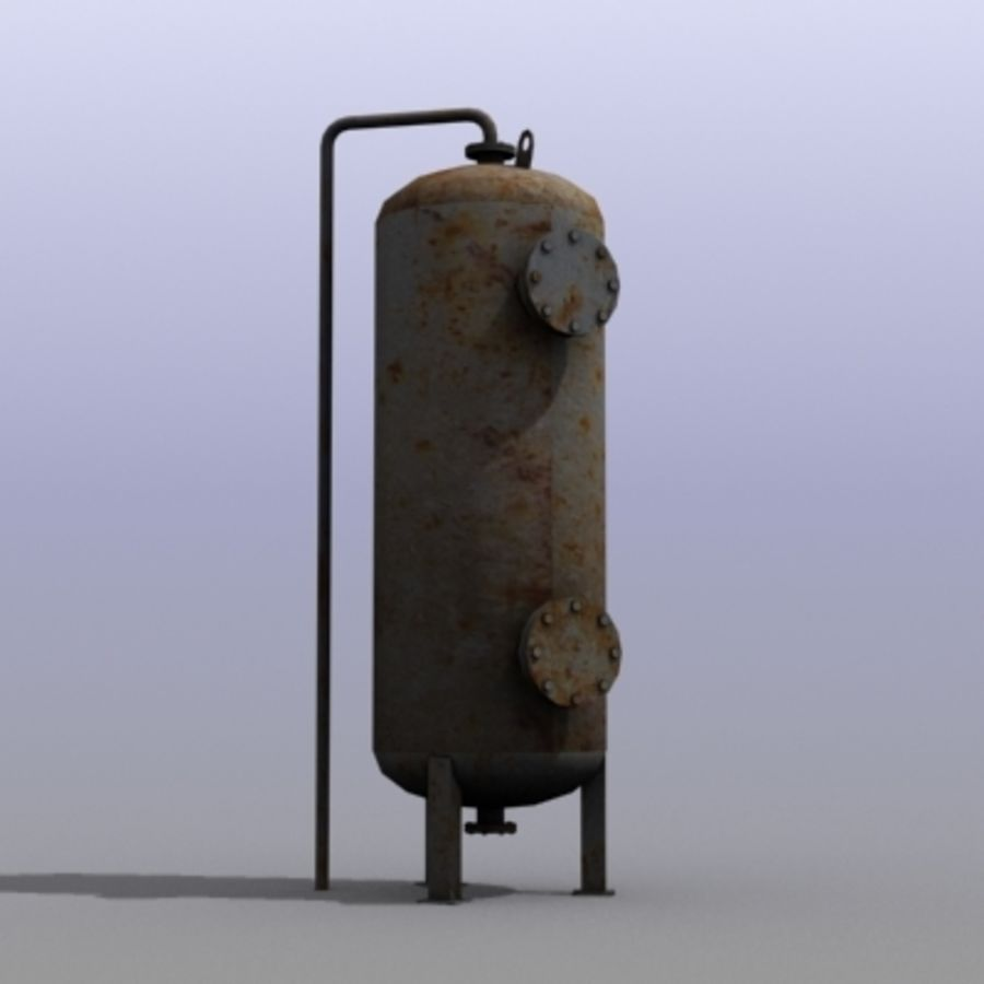 Old Water Tank royalty-free 3d model - Preview no. 1