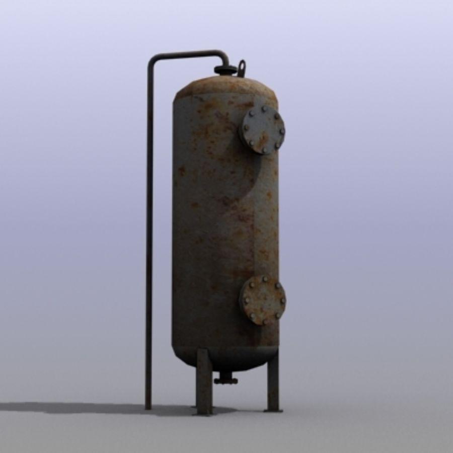 Stary zbiornik na wodę royalty-free 3d model - Preview no. 1