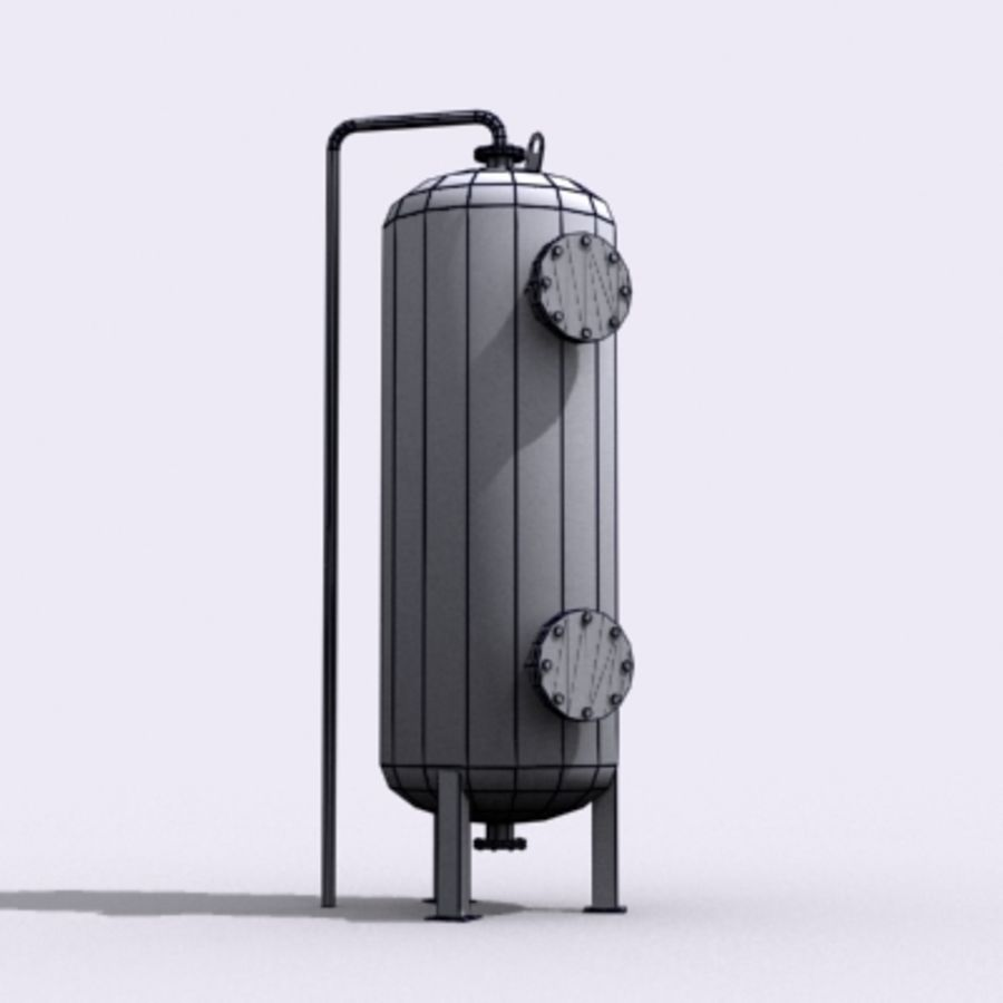 Old Water Tank royalty-free 3d model - Preview no. 15